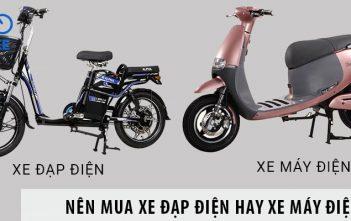 Góc chia sẻ: Nên mua xe đạp điện hay xe máy điện?