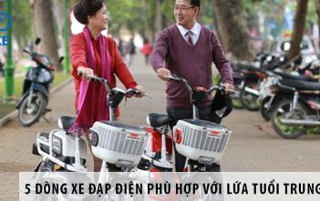 5 dòng xe đạp điện phù hợp với lứa tuổi trung niên
