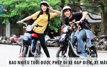 Bao nhiêu tuổi được phép đi xe đạp điện, xe máy điện