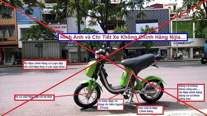 Nhận biết một chiếc xe đạp điện Nijia giả