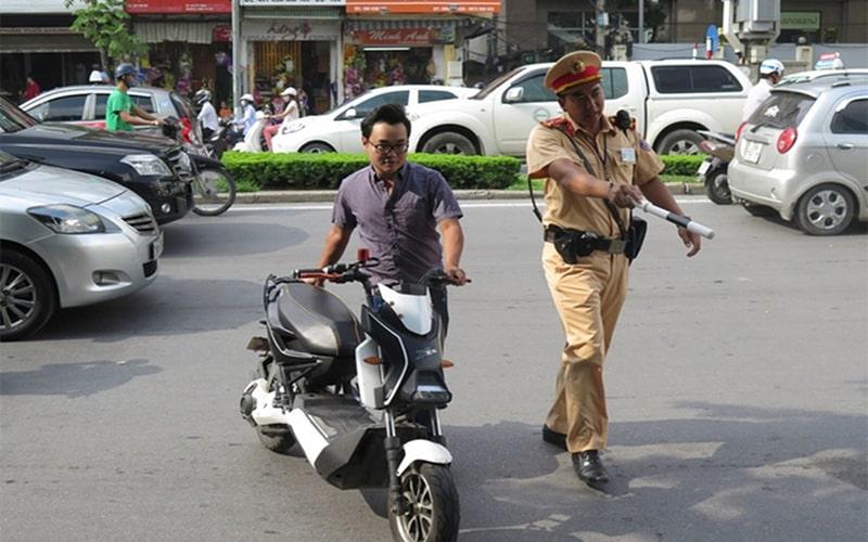 Xe điện chưa đăng ký sẽ bị cơ quan chức năng xử phạt