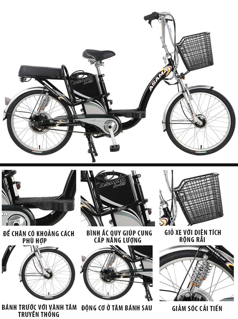 Mẫu xe đạp điện Asama chính hãng