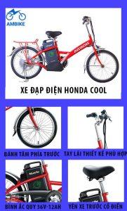 Thiết kế của xe đạp điện Honda Cool