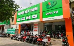 Hệ thống các cửa hàng của xe điện Việt Thanh