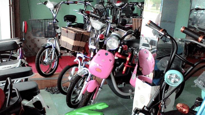 Một số sản phẩm ở cửa hàng xe điện Rong Xanh