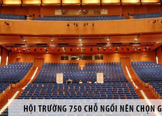 Hội trường 750 chỗ ngồi nên chọn ghế gì?