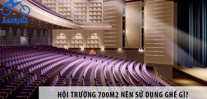 Thiết kế hội trường 700m2 nên dùng loại ghế nào?